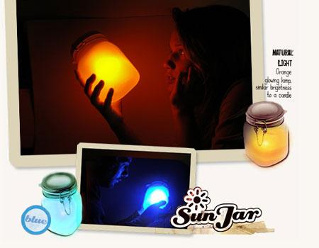 Sun Jar: la lampada solare da tavolo