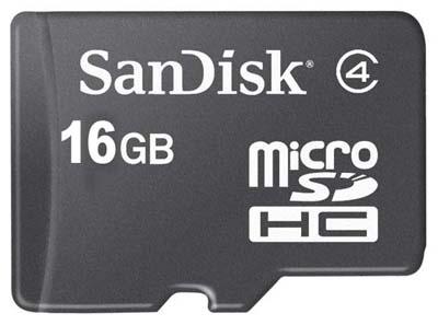 SanDisk: schede per cellulari MicroSDHC e M2 ora da 16GB