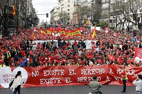 Manifestazione Madrid